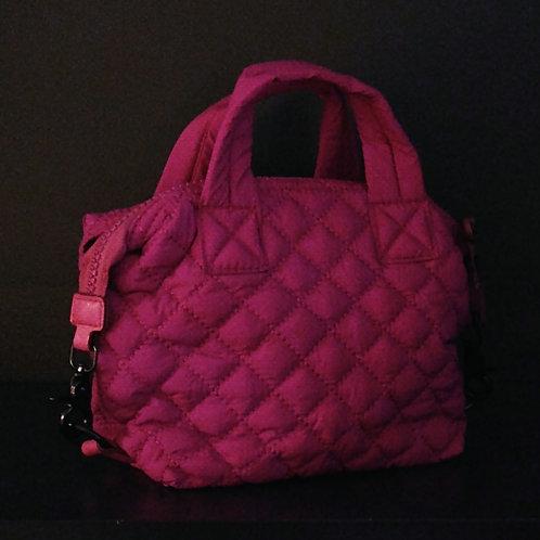 Quilted Mini Crossbody Bag, Fuschia