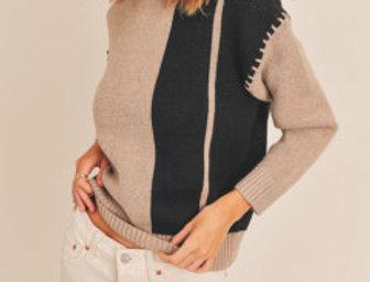 Whipstitch Block Sweater