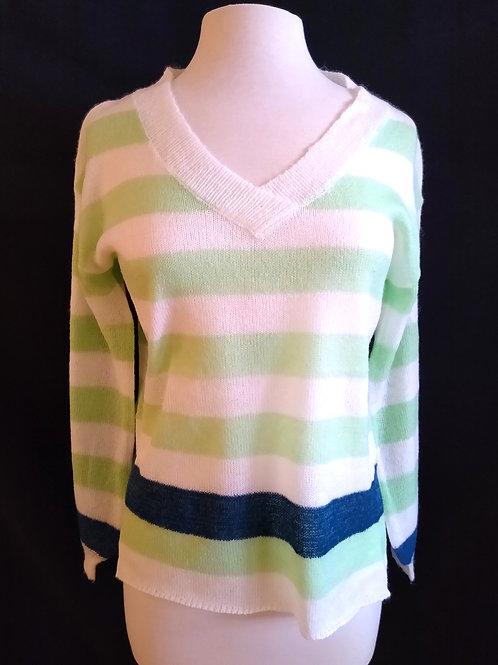 The V Neck Stripe Sweater