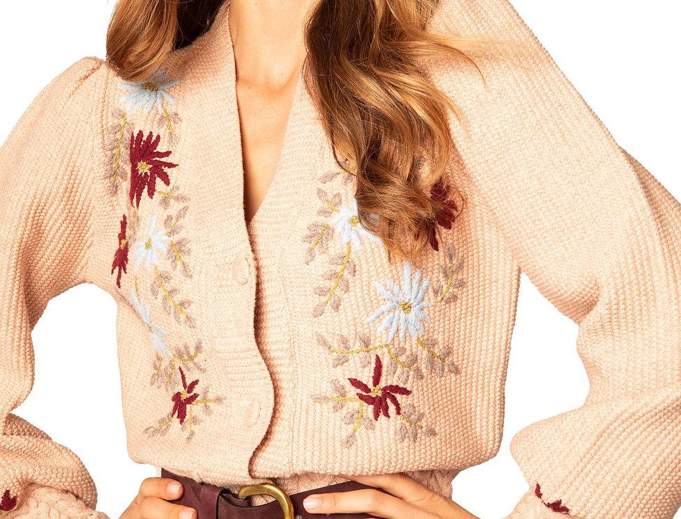 Yarn Embroidered Cardi