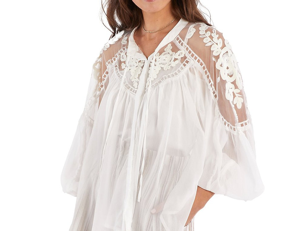 Embroidered Blouse - Black