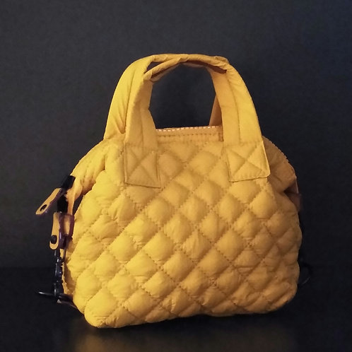 Quilted Mini Crossbody Bag, Yellow