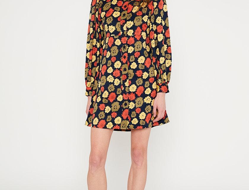 Flower Shirt Dress