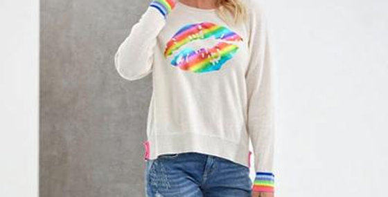 Kiss Foil Cashmere Sweater