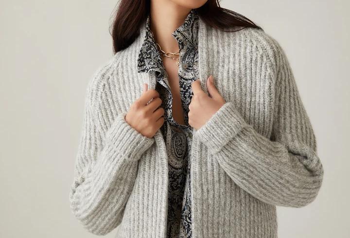 Open Cardigan Sweater