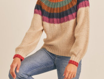 Rainbow Yoke Sweater