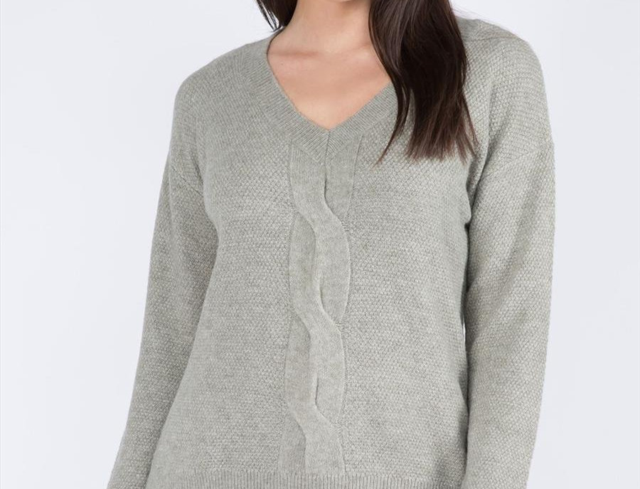 Cable Waffle Sweater