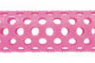 Rolos Plastico Rosa  17mm