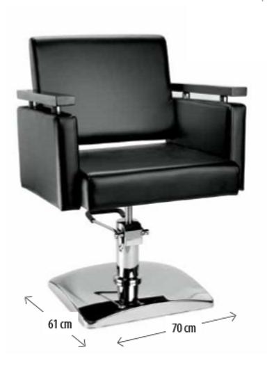 Cadeira de Cabeleiro Modelo Curve