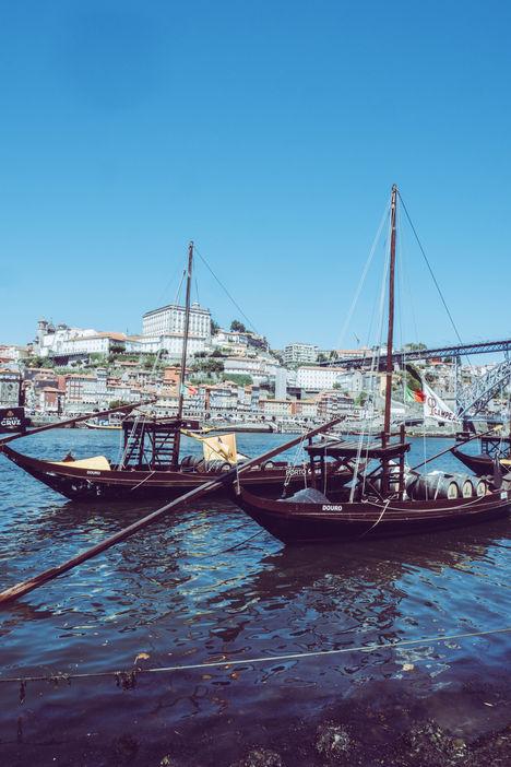 Rabelos sur le Douro, quartier Ribeira de Porto