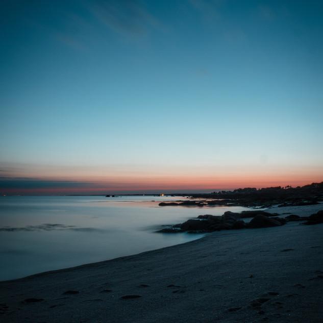 Coucher de soleil celte sur l'ocean breton