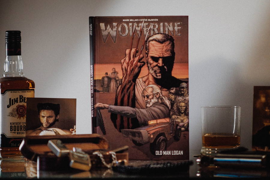Comics Old Man Logan Plan Serre Traitement Vintage