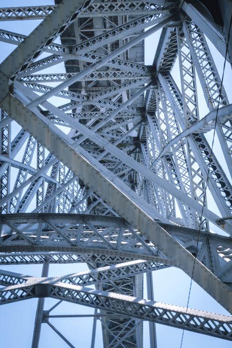 Pont Luis I de Porto, vue du dessous