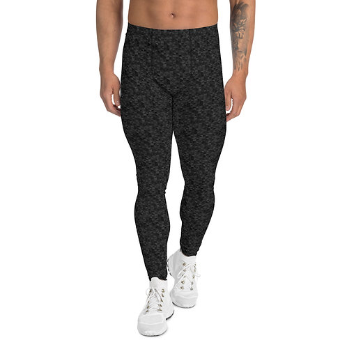 Black pattern Men's Leggings