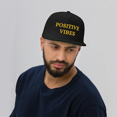 POSITIVE VIBES Flat Bill Cap