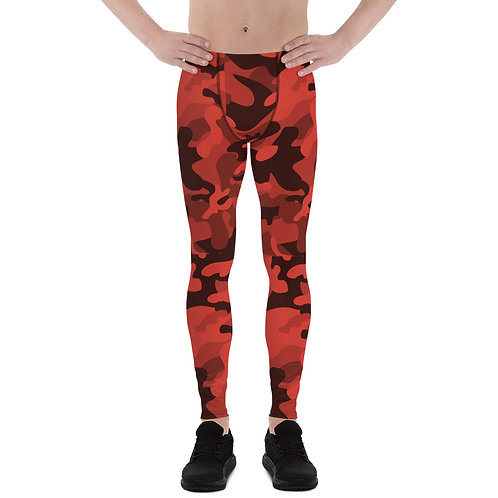 Camo Men's Leggings Red/Black