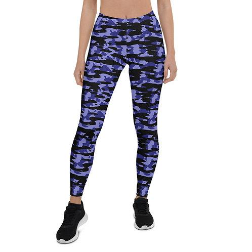 Camo Leggings Purple/Black