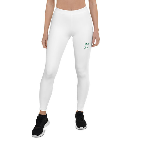 White  Logo Leggings