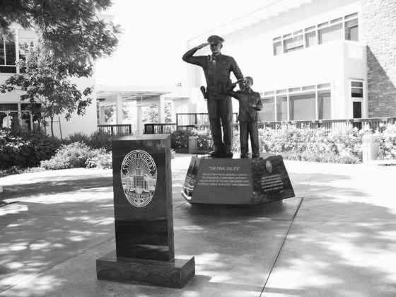 Whittier's response to its fallen officer