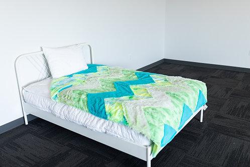 XL Chevron Patchwork Blanket