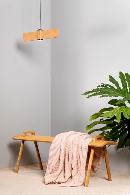 ספסל קמור + מנורת גלים T1