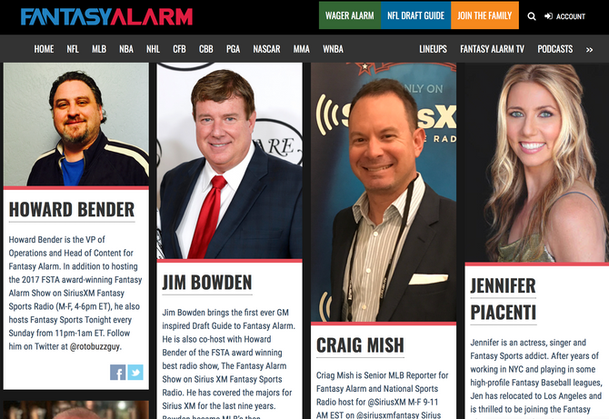 Jen Joins Fantasy Alarm team