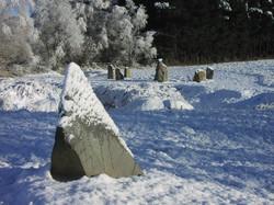 stones+in+snow