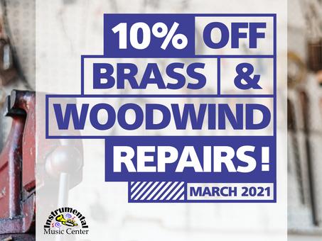 10% Off Brass & Woodwind Instrument Repairs - March 2021