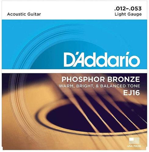EJ16 - Light Gauge Acoustic Guitar Strings