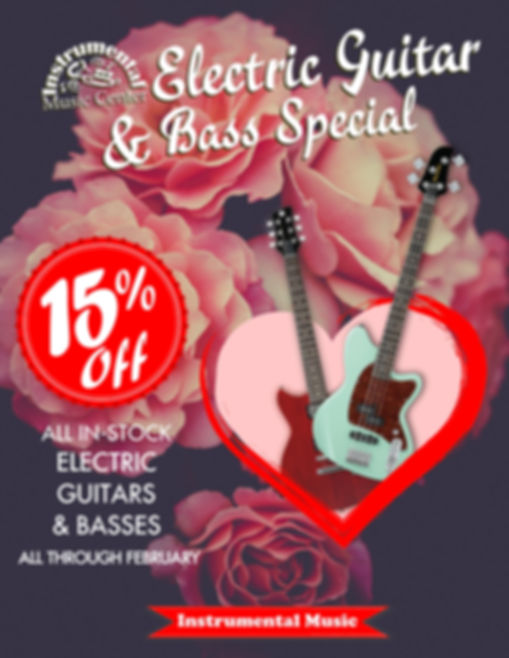 February Electric Guitar Special Poster