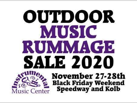 Black Friday Outdoor Music Rummage Sale Nov. 27th-28