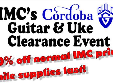 IMC Cordoba & Guild Guitar and Ukulele Clearance Event