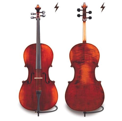 Antique Electro Acoustic Cello 4/4