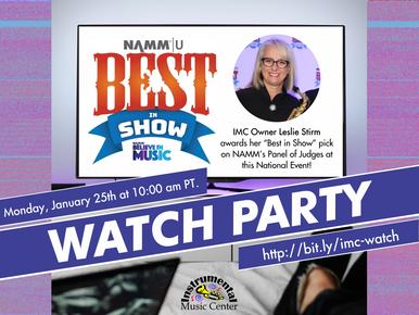 IMC Watch Party - NAMM Best in Show