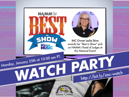 IMC Watch Party - NAMM Best in Show