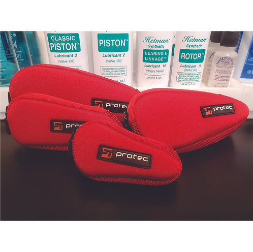 Red Neoprene Mouthpiece Pouch