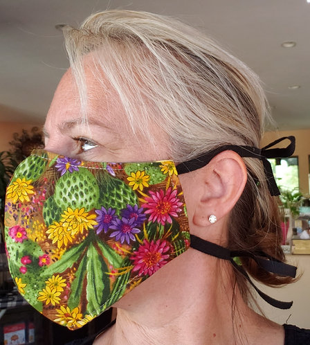 Random Pattern Large Cloth Face Cover