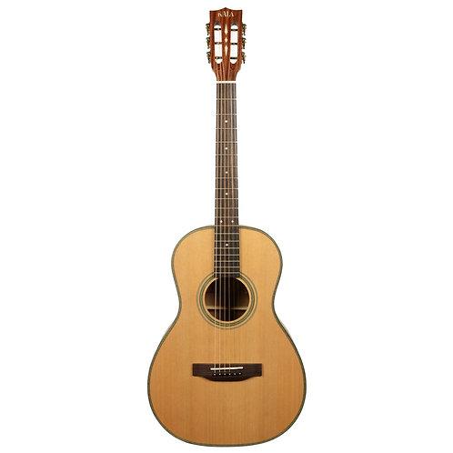 Kala Solid Cedar Top Parlor Guitar