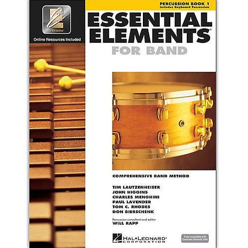 Essential Elements for Band - Percussion Bk 1