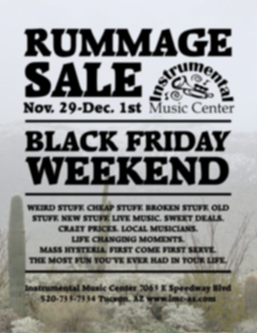 Black Friday Rummage Sale Poster 2019.jp