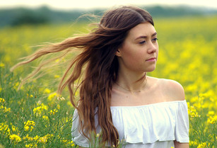 Young Lady in Field