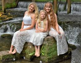 Girls by Waterfall
