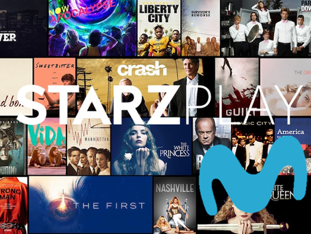 El servicio de streaming Starzplay llega a Movistar Chile