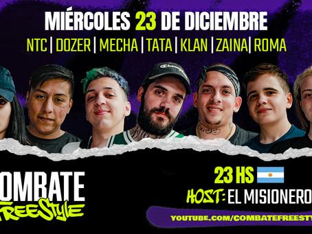 Combate Freestyle vuelve a Argentina con su sexta fecha