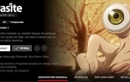 El anime de Parasyte ya llego a Netflix