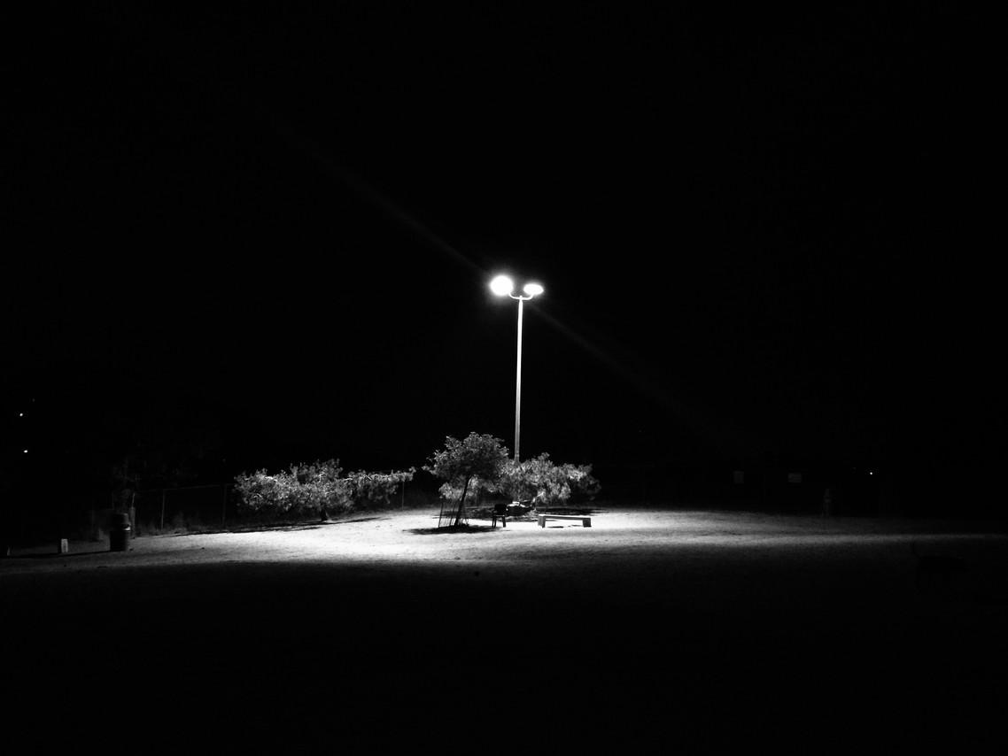 Dog park at Night