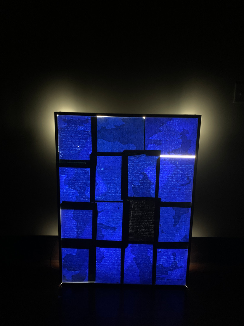 Blue: Love letters on Carbon Paper