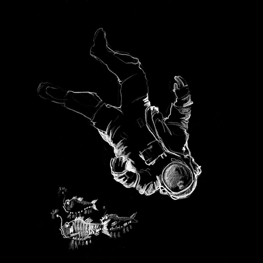 Bottom of the sea_astronaut