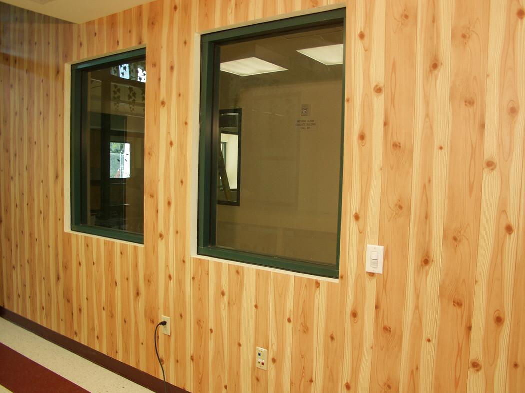 Interior woodgrain wallpaper