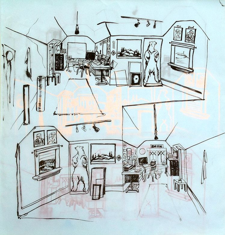Drawing of my Studio 2018